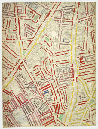 Descriptive map of London Poverty: Section 55: 1889