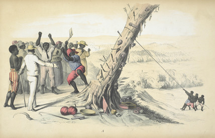 Sierra Leone I. Cutting Down a Fetish-tree: 19th century