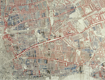 descriptive map of london poverty east london sections 1889