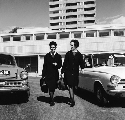 Nurses outside Gospel Oak Family Health Clinic: 1971-1972