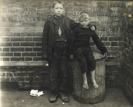 Two poor boys from the East End: c.1900