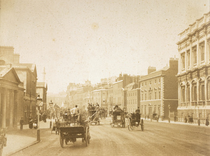 Whitehall with horse drawn transport: c.1900