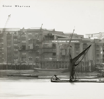 Thames Riverscape showing New Crane Wharves : 1937