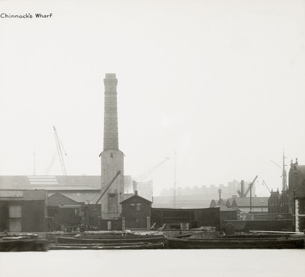 Thames Riverscape showing Chinnock's Wharf: 1937