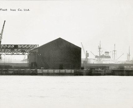Thames Riverscape showing The Cargo Fleet Iron Company; 1937
