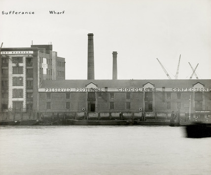 Thames Riverscape showing Morton's Sufferance Wharf; 1937
