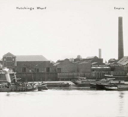 Thames Riverscape showing Hutchings Wharf; 1937