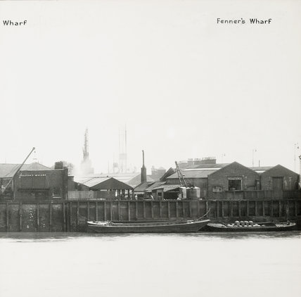 Thames Riverscape showing 1937 Mellish's Wharf and Fenner's Wharf; 1937