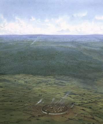 Fortified enclosure, Southern England, c1000 BC.