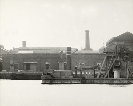 Thames Riverscape showing  The Admirality's Royal Victoria Victualilng Yard: 1937