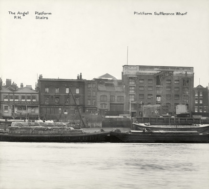 The Angel Public House, Platform Stairs and Platform Sufferance Wharf: 1937