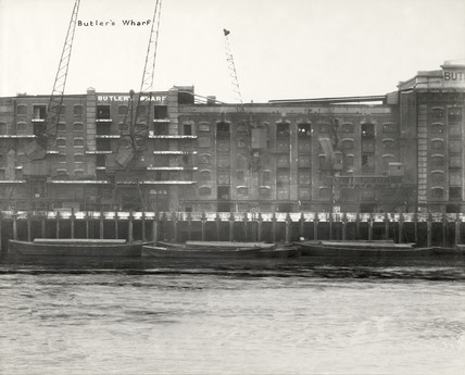 Thames Riverscape showing Butler's Wharf: 1937