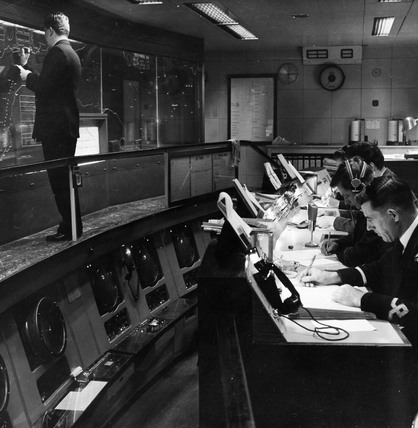 Operations Room, Thames Navigation Building :1963