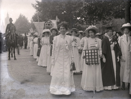 Suffragette March in Hyde Park; 1910
