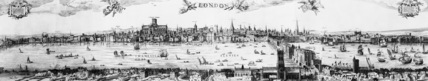 Visscher view of London, 1616: 1846