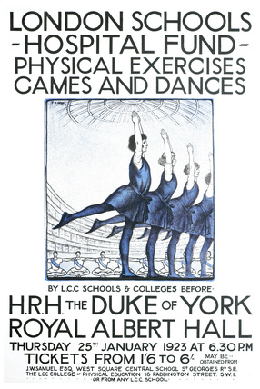 London Schools Hospitals Fund -  physical exercises, games, and dances: 1923