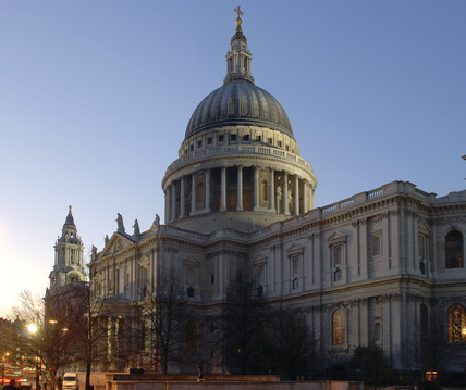 St. Pauls Cathedral at dusk; 2007