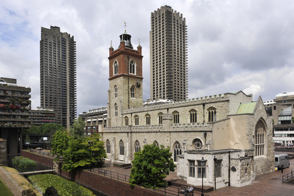 St Giles Church and The Barbican Centre; 2007