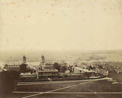 View of Greenwich and the Thames: 1856