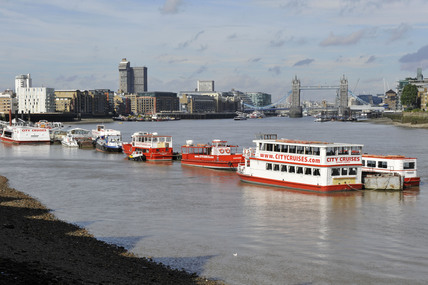 The River Thames from Rotherhithe; 2009