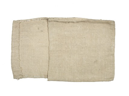 A hessian pouch or bag for artist's lay figure: 18th century