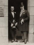 William Humble Ward, 2nd Earl of Dudley with his best man Dudley Gillroy