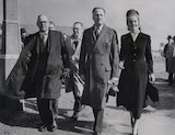 Oswald Pirow; Oswald Mosley; Diana Mitford (later Lady Mosley)