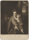 'Caroline Curzon (née Colyear), Lady Scarsdale with her son the Honourable John Curzon' (John Curzon; Caroline Curzon (née Colyear), Lady Scarsdale)