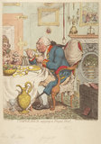 'Temperance enjoying a frugal meal' (Sophia Charlotte of Mecklenburg-Strelitz; King George III)
