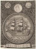 The Great Seal for King James II when Duke of York with heads of King Charles II and King James II