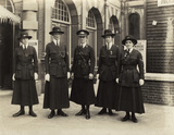 Mary Sophia Allen (centre) with four members of her force
