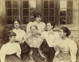 Lady Strachey and daughters