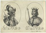 King Stephen; King Henry II (fictitious portraits)