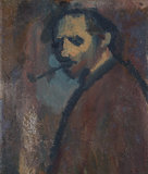 David Bomberg ('Self-Portrait with Pipe')