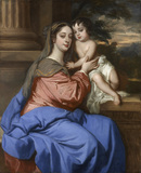 Barbara Palmer (née Villiers), Duchess of Cleveland with her son, probably Charles FitzRoy, as the Virgin and Child