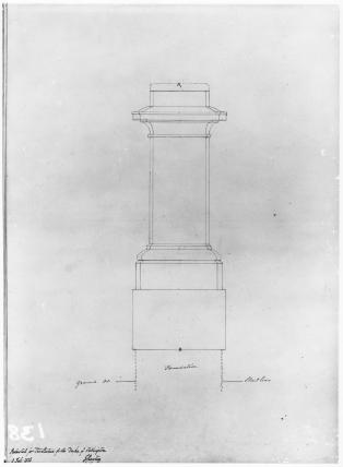 Sketch of pedestal for Statue of Duke of Wellington