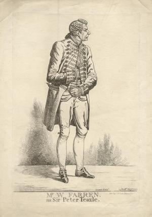 William Farren ('Mr William Farren as Sir Peter Teazle')