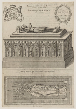 Tomb effigies of Henry Lacy, 5th Earl of Lincoln; Robert Braybrooke (Braybroke)