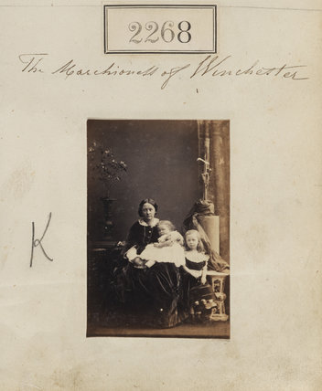 The Marchioness of Winchester with her two eldest children