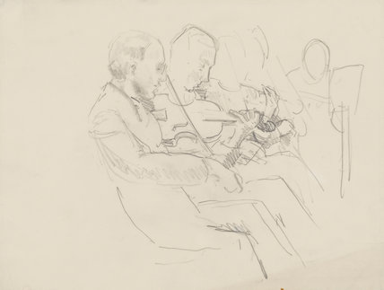 Two unknown violinists