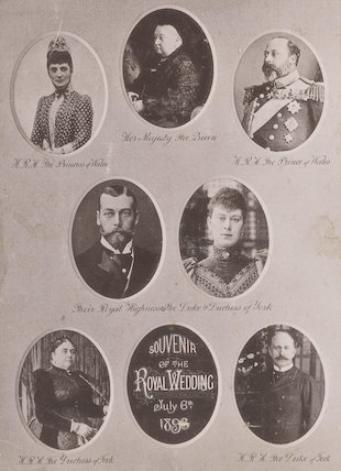 'Souvenir of the Royal Wedding, July 6th 1893'