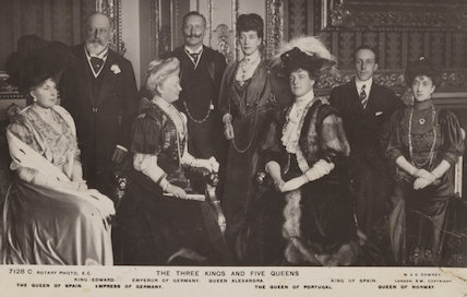 Royal group in the Crimson Drawing-Room at Windsor Castle