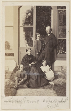 Sir Herbert Edward Purey-Cust with family