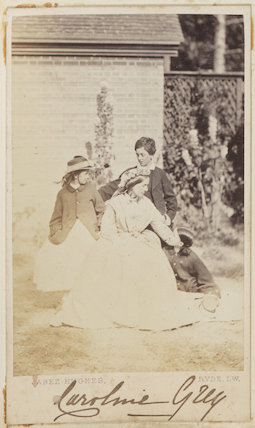 Victoria Alexandrina Elizabeth (née Grey) as a girl with her family