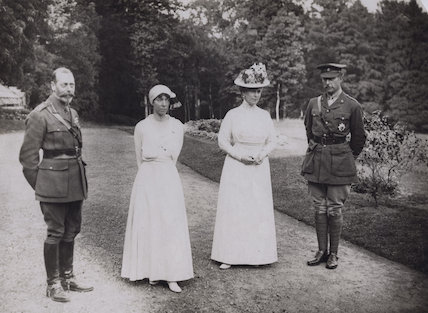 King George V; Elisabeth of Bavaria, Queen of Belgium; Queen Mary; Albert I, King of the Belgians