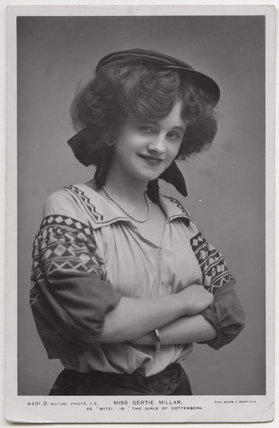 Gertie Millar as Mitzi in 'The Girls of Gottenberg'