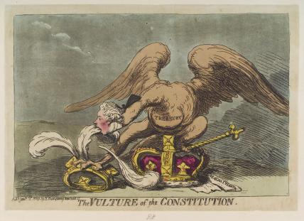 William Pitt ('The vulture of the constitution')