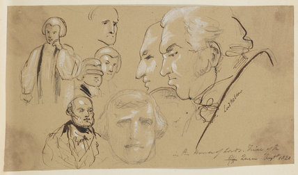 Various heads including William Nelson, 1st Earl Nelson and Frederick, Duke of York