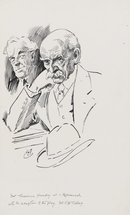Thomas Hardy with Thomas Henry Tilley