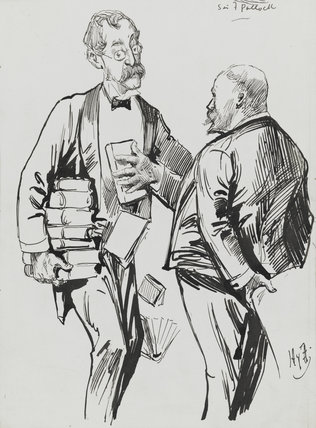Sir Frederick Pollock, 3rd Bt; Harry Furniss